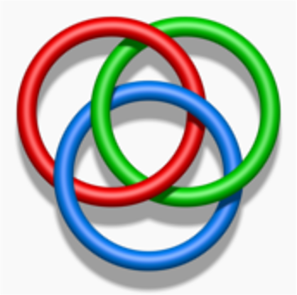 Here are pictures of three Borromean rings.